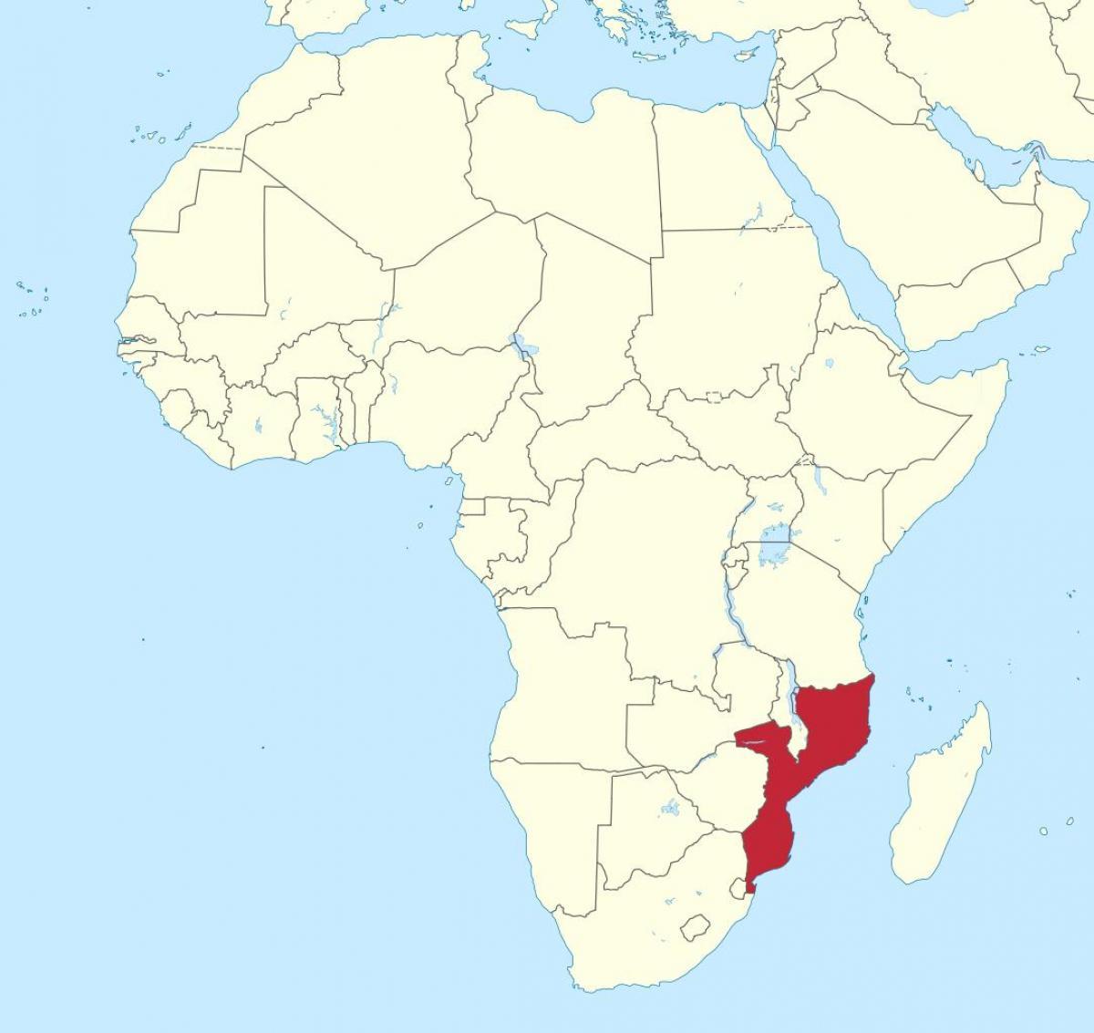 Mosambik Afrikan Kartta Kartta Mosambik Afrikka Ita Afrikka