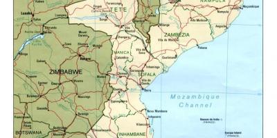 Mosambik Kartta Kartta Mosambikin Saari Ita Afrikka Ja Afrikan